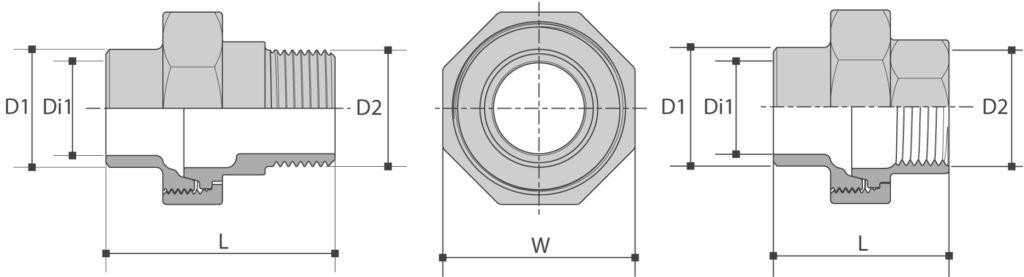 Koppeling L/BI-BUI