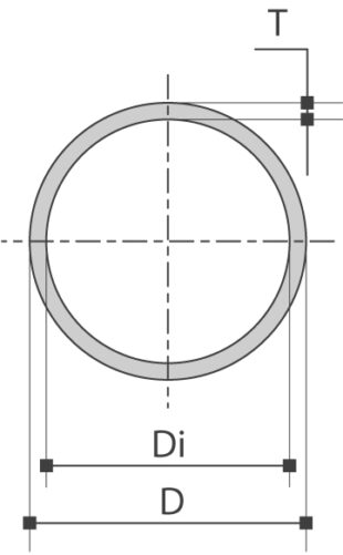 Tubes construction ronds