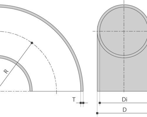 RVS lasBOCHT EN10253-4 is verkrijgbaar bij Sadel Stainless Steel in RVS-inox 304L - 316L