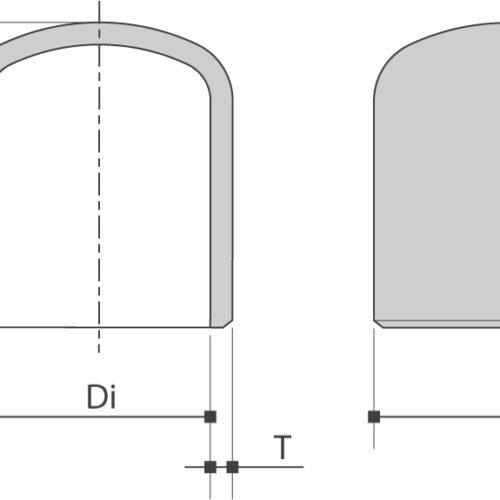 Holle bodem / Cap is verkrijgbaar bij Sadel Stainless Steel NV in RVS-inox kwaliteitL- 304L en 316L volgens ASTM